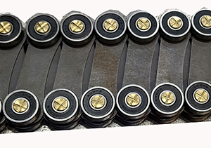 Роликовая батарея (цепь) поручня головного участка (обечайка головного участка балюстрады) ЭП30-51М ЛАТРЭС F.01EP (Э061.М1.191.02.000 Б)