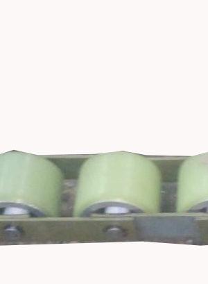 Прижимная роликовая цепь привода поручня эскалатора SIGMA SCE (5 роликов) D=70 H=50, шаг 85 мм